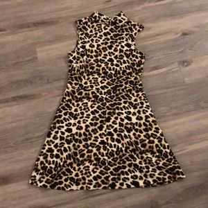 Leopard/Cheetah Skater A-Line Dress